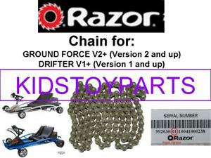 7inch Chain Razor Electric Go Kart Ground Force Drifter 56 Link Size #25