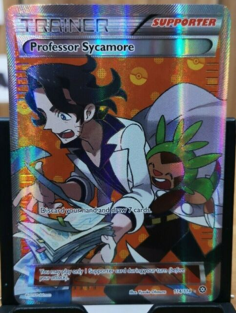 Pokemon Trainer Professor Sycamore - Steam Siege 114/114 Full Art *