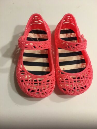 Baby Prewalk Sandals Shoes Size 3 Mary Jane Jelly Coral