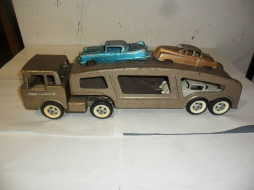 1950's Structo Transport Co. Truck , Trailer & 3Cars . Made in USA