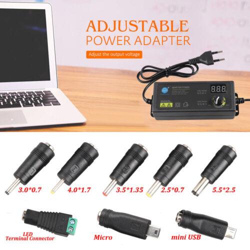 Adjustable Voltage Power Supply Adapter Transformer Switch AC 100-240V to 3-24V