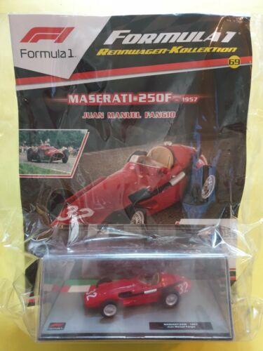 250 f 1957 Juan Manuel Fangio Formula 1 coches de carreras-colección nº 69 Maserati