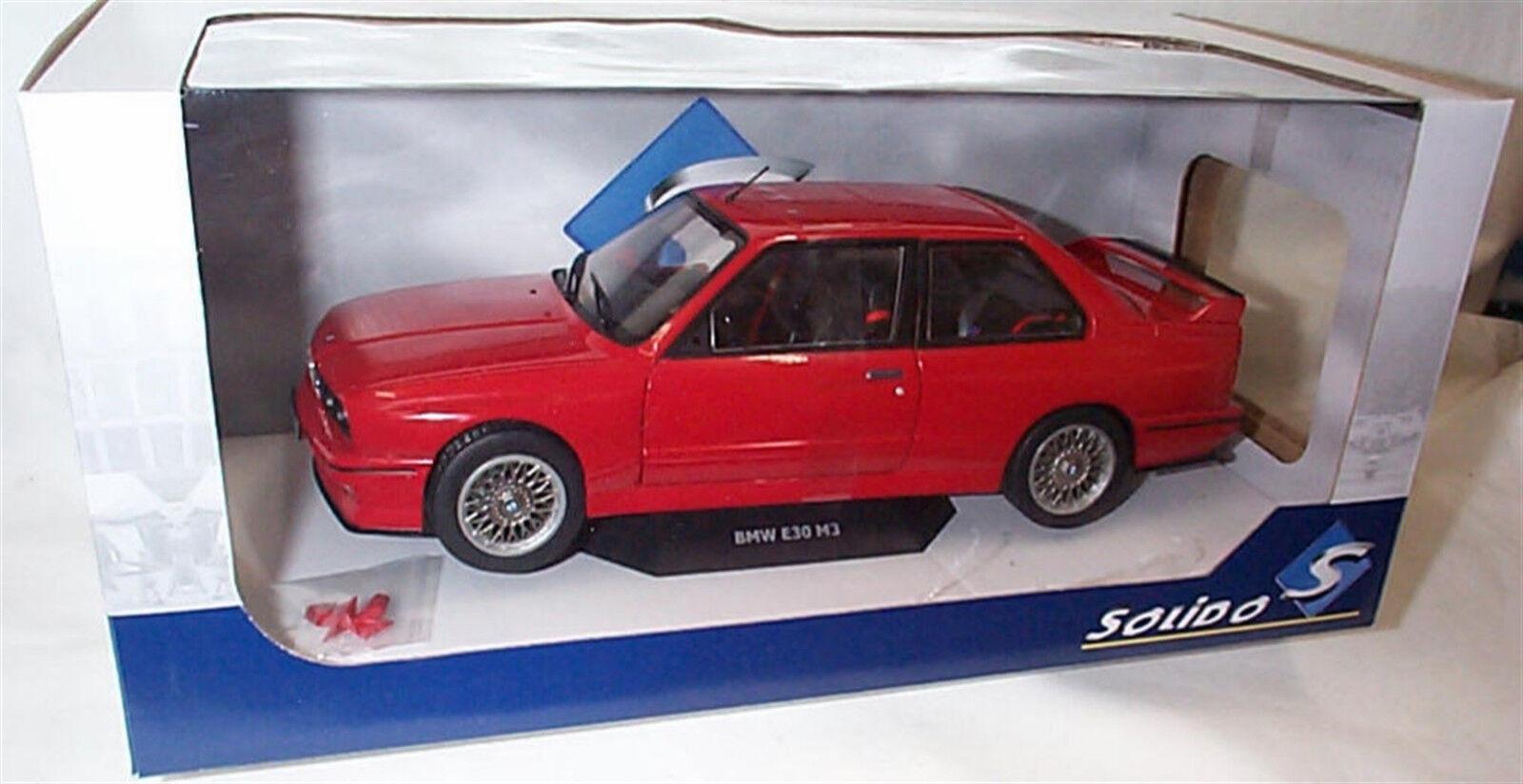 BMW E30 M3 Sport Evo 1990 in (environ 5054.60 cm) rouge 1/18 - S1801502 SOLIDO | Une Forte Résistance à Chaleur Et Résistant  | La Qualité Et La Quantité Assurée  | Good Design  | Grandes Variétés