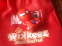 Disney Wikkeez Marvel Character. Spiderman. Series 1. With red bag.