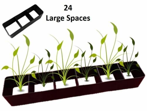 24 Multi Plant Cell Seed Growing Tray Seedling Spacer Garden Bedding Plant Bulbs