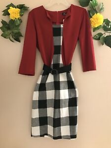7083170c2ed Fashion Mia one-piece dress suit red and black checker print with ...