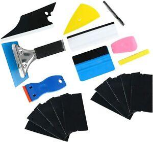 10PCS Car Window Tint Wrapping Vinyl Tools Squeegee Scraper Applicator Kits CA