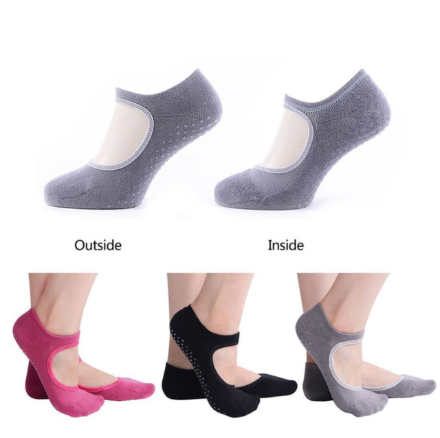 ToeSox Womens Full Toe Bella Grip Non-Slip Yoga Socks 2 Pack