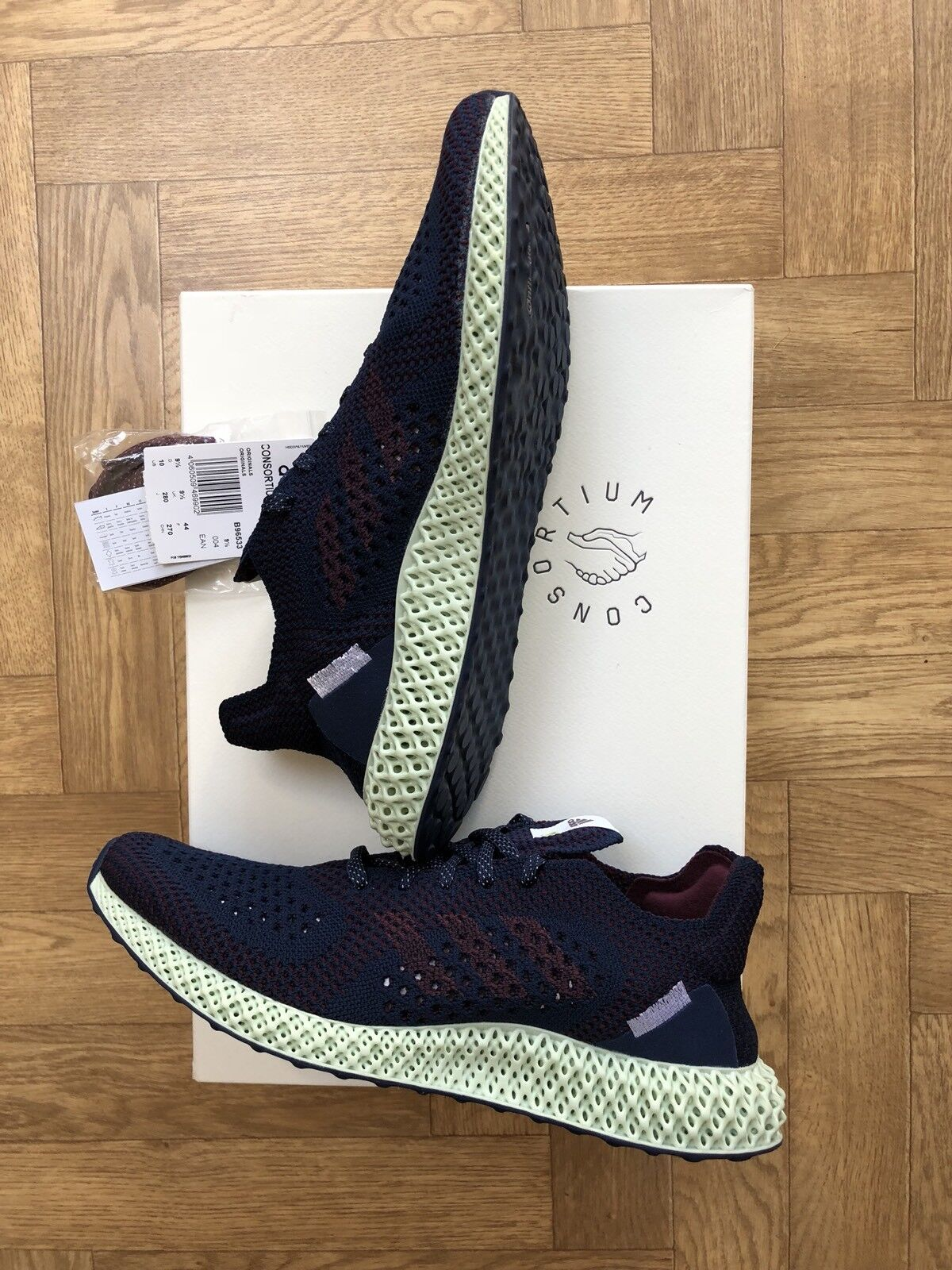 Adidas Consortium Runner S Futurecraft Uk Size 9.5 Boxed New (with Receipt)