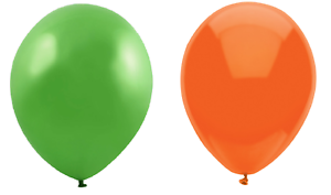 """Multipack Lime Green and Orange Birthday Party Balloons Wedding Arch 10/"""""""
