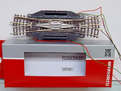 OVP Fleischmann N 22246 Elektrische Doppelkreuzungsweiche 15° NEU