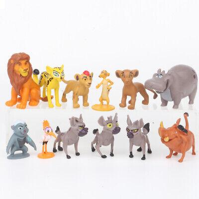 12pcs Film Le Roi Lion Simba Action Figure Poupée Set Enfant Jouet Anniversaire