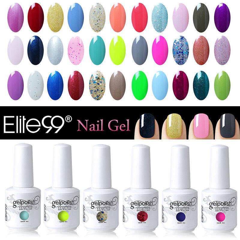 Elite99 Vernis A Ongles Semi Permanent Gel Polish UV LED Nail Art Manucure 15ml 2