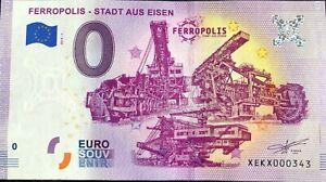 BILLET-FERROPOLIS-STADT-AUS-EISEN-ALLEMAGNE-2019-1-NUMERO-DIVERS