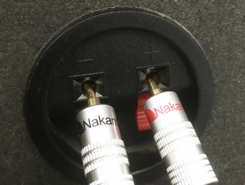 banana plugs 15ft SPEAKER CABLE 14 Gauge OFC type wire Nakamichi 2mm Pin