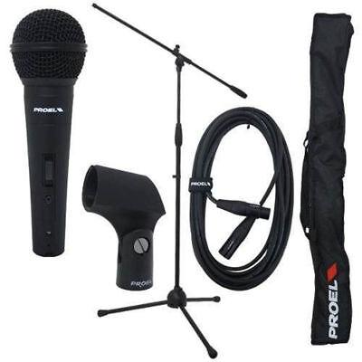 Cavo Asta RSM180 Proel PSE3 Kit Microfono DM800 Supporto APM20 Borsa
