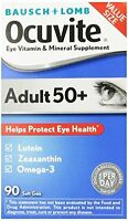 Bausch & Lomb Ocuvite Adult 50+ Vitamin & Mineral Supplement Soft Gels, 90 Each on Sale