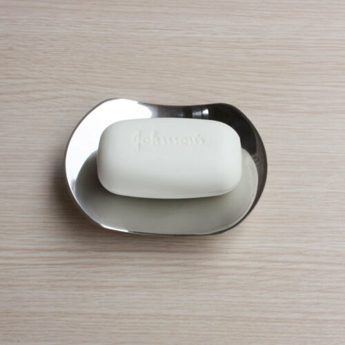 Bathroom Bath Soap Dish Plate Holder Brushed Nickel Chrome Free Standing SUS 304