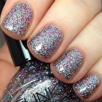 Funky Fingers Nail Polish SMILING'S MY FAV Multi Holographic Glitter