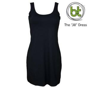 NEW-LADIES-BAMBOO-TEXTILES-BLACK-JILL-DRESS-SIZES-8-to-16