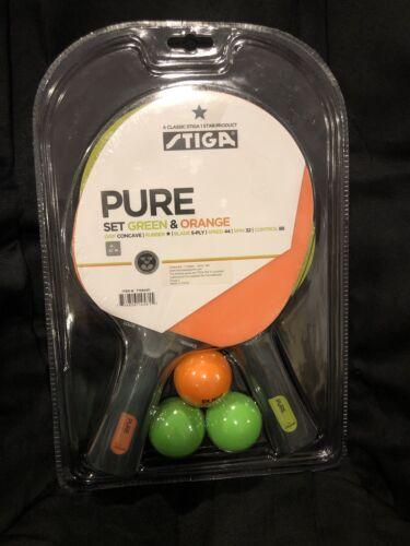 STIGA Pure Color Advance 2-Joueur de Tennis de Table Set-Nouveau!!!