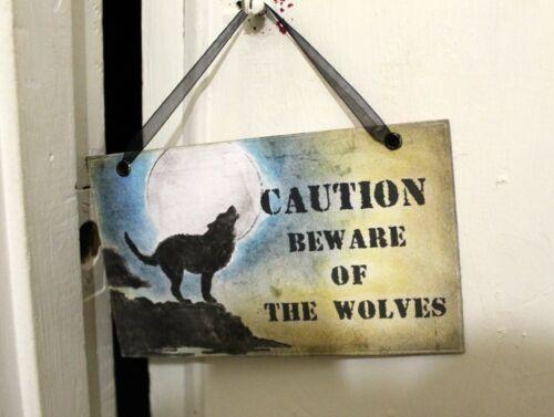 Méfiez-vous des loups Halloween prudence signe//Prop 2