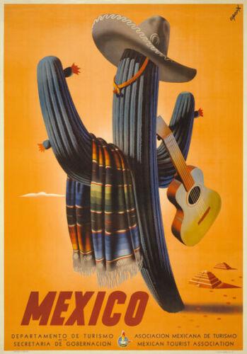 TX14 Vintage 1945 MEXICO Mexican Travel Poster Re-Print A1//A2//A3