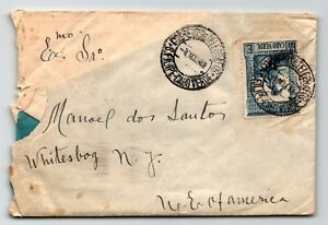 Cape-Verde-1948-Cover-to-New-York-1-75-Single-Corner-Crease-Z13338