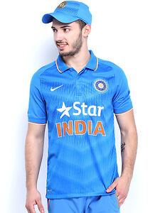 8398c255b371 Nike Men Blue India Cricket Team ODI SS Stadium Polo Collar T-shirt ...