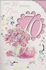 Item 2 Nan Happy 70th Birthday Card