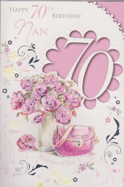 Nan Happy 70th Birthday Card