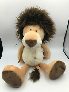 NICI-Lion-Dark-Maine-Hood-Plush-Kids-Soft-Stuffed-Toy-Animal-Brown-Teddy-Bear