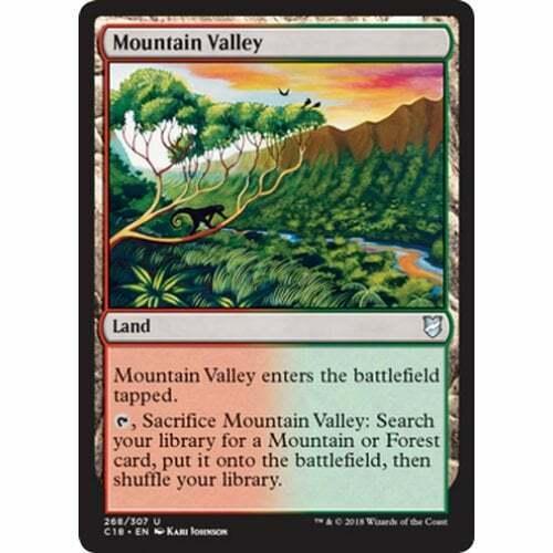 2018 Edition MTG COMMANDER * Mountain Valley