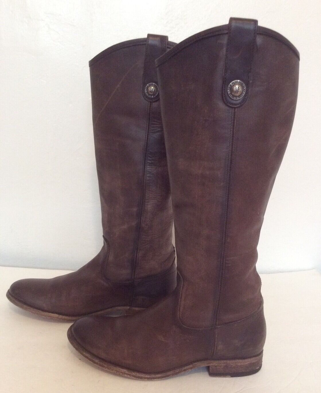 FRYE Melissa Button Leather Boots slate Women's Size 7 7 7 B 4ef6bc