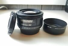 SMC Pentax FA 50mm F/1.4 Lens for K Mount Plus B & W Hood