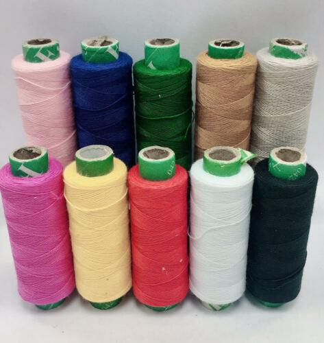 10 Colores Mezclados Poliéster Hilo Carretes Máquina y Mano Costura 175 metros cada uno