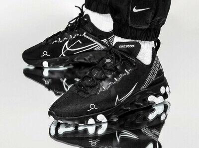 Nike React Element 55 DM Noir Blanc Homme Chaussure Basket Sport Tout Tailles | eBay