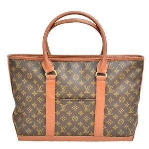 Authentic-Louis-Vuitton-Weekend-PM-Monogram-Shoulder-Hand-Bag-Brown-Gold-France