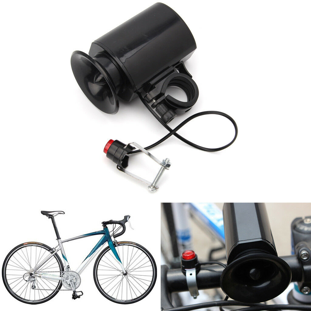 waterproof black 6sounds ultra loud electronic bicycle bell bike