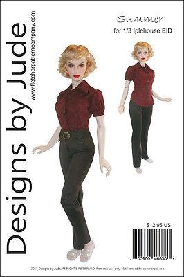 Summer Doll Clothes Sewing Pattern 1/3 Iplehouse EID BJD Dolls