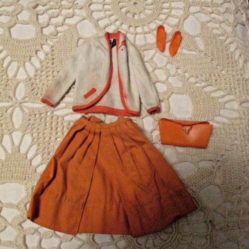 Barbie Doll 1960's lot of Orange Clothes