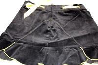 Morbid Threads Mini Skirt Black Yellow Small