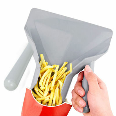Double Handle Chip Bagger Plastic Duel French Fries Fry Shovel Fast Food Scoop