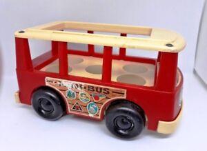 Vintage-1969-Fisher-Price-little-people-Play-Family-mini-Bus-Van