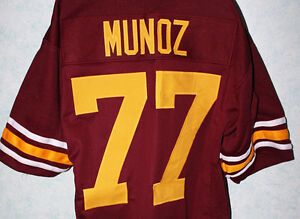 pretty nice f3df3 64d24 ANTHONY MUNOZ #77 USC TROJANS JERSEY maroon NEW AUTHORIZED ...