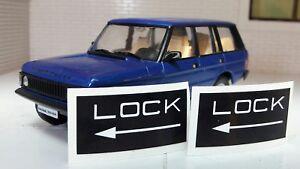 Land Rover Range Classic Tailgate Lock Sticker Decal Label x2 392611