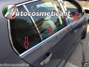 4Strisce-Cromate-sotto-finestrini-Acciaio-VW-Golf-V-5-raschiavetri-Cornici-vetri