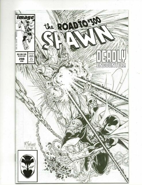 Spawn #298 McFarlane Spider-man Homage B/W Cover Image Comic 1st Print 2019 NM