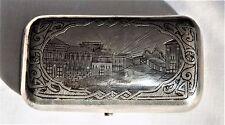 ANTIQUE (1874) RUSSIAN EMPIRE SILVER 84 NIELLO CIGARETTE CASE SNUFF BOX MOSCOW