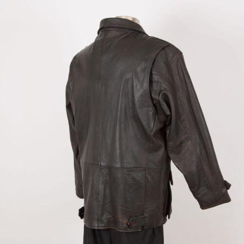L 76gfybvy Jacket Marrón Para De Hombres Cuero Mirage Aislado Grandes Cintura XTPiOkZu